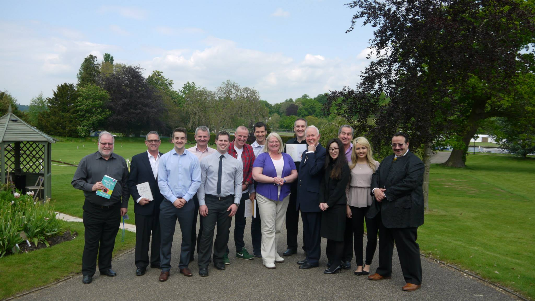 Group photo of the delegates from the Mind Mapping course, Henley-on-Thames
