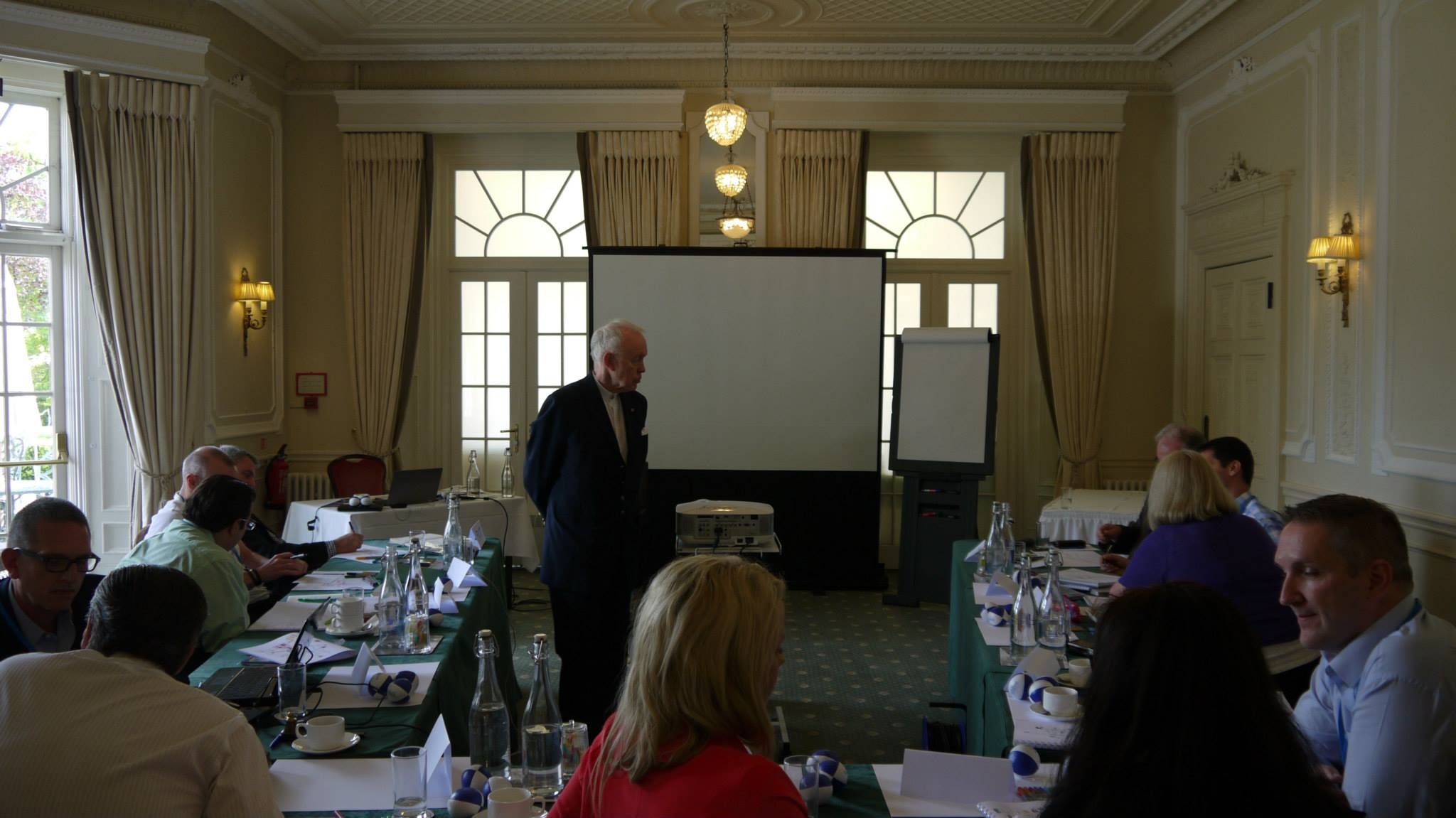 Tony Buzan with the course delegates
